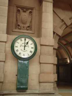 A time piece at Central, Sydney dating back to earlier times of empire.