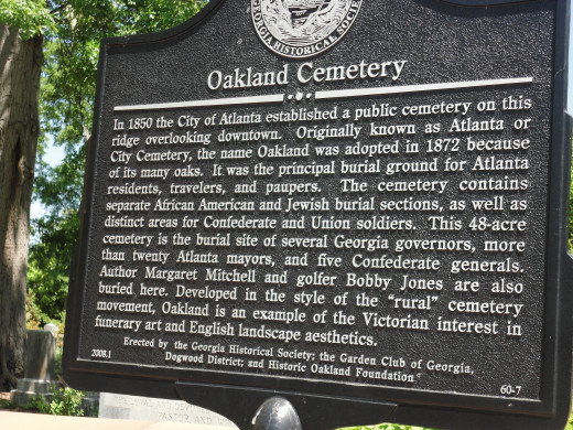 Located near downtown Atlanta is one of the city's most popular tourist destinations. Oakland Cemetery.