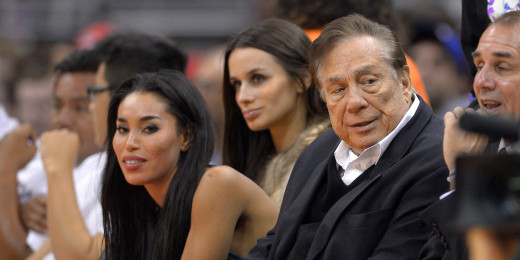Sterling and his alleged mistress court side at a Los Angeles Clipper's game.