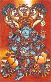 Mural art of Lord Venkatesa