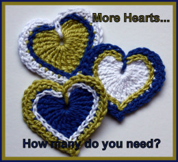 Over run by crochet hearts?  There's nothing to do but try to sell them!