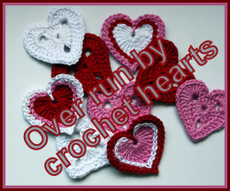 What do you do with 100's of crochet hearts?  You sell them of course....