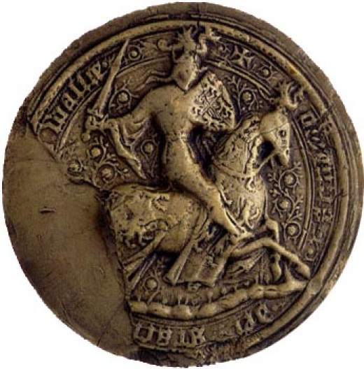 The Royal Seal of Owain Glyndwr dating from the early 15th century- the time when he briefly ruled as the Prince of Wales