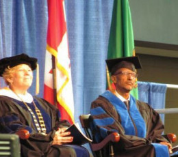 Kagame getting a honorary degree