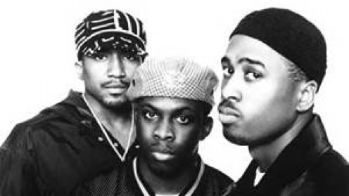A Tribe Called Quest consisted of Q-Tip(left), Phife Dawg(middle) and Ali Shaheed Muhammad(right).