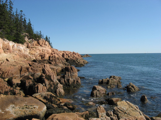 shore near Bass Harbor Lighthouse