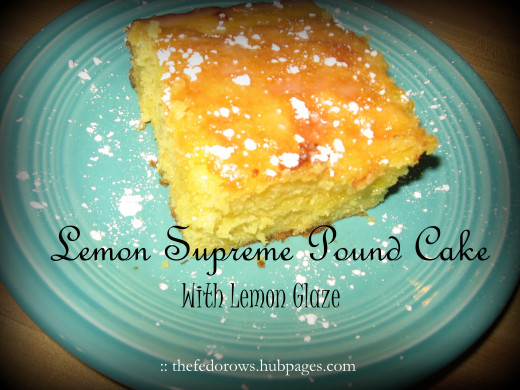 A bite of Lemon Supreme Pound Cake is like sunshine. The rich buttermilk cake melts in your mouth as the glaze leaves the tang of juicy lemon.  Use a boxed cake mix, pudding mix, and real lemons for this crowd-pleaser!