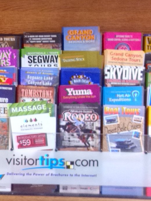 Check for brochures in popular highway exits and rest stops and take them home.