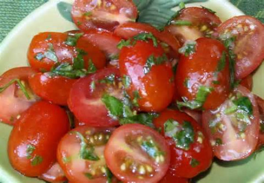 Cherry Tomato Italian Salad with Vinaigrette and Spices