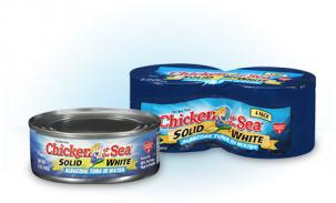 Solid white Albacore Tuna in water from Chicken of the Sea