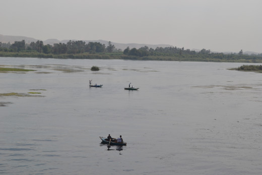 Cruise vacation on the river Nile, Egypt. Life on the river Nile has not changed for thousands of years