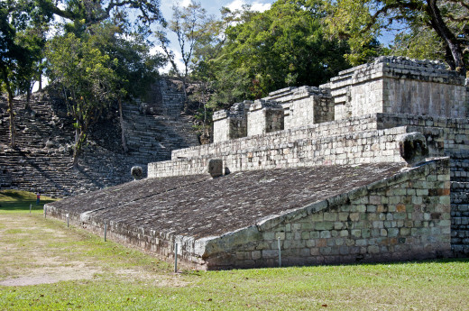 Example of Mayan building skills.  Ball Court at Copán.