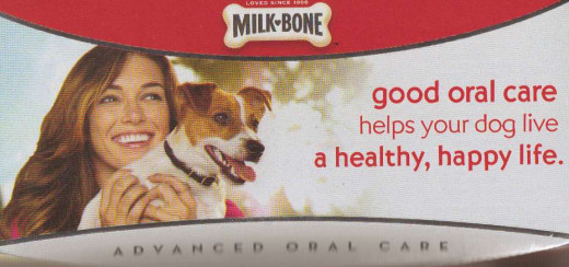 This is the top of the carton I used for my dachshund. They are correct about us being happier regarding less bad breath in our beloved dachshund. :D
