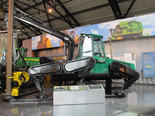 World's First Prototype for Walking Forest Machine Now on Display at John Deere Pavilion