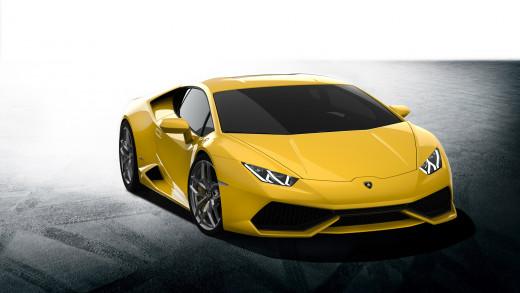 A Yellow (Gialla) Lamborghini Huracan Coupe