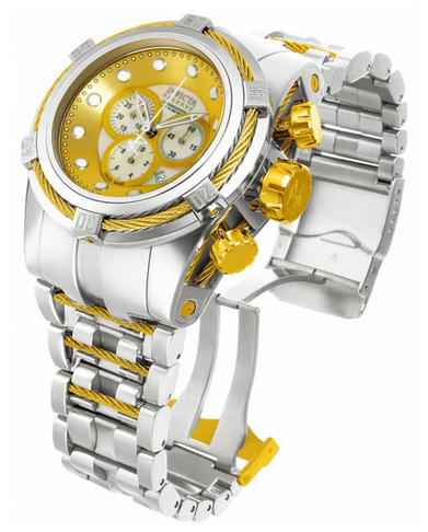Invicta 12746 Men's Reserve Bolt Zeus Gold Tone Dial Steel Bracelet Chronograph Dive Watch