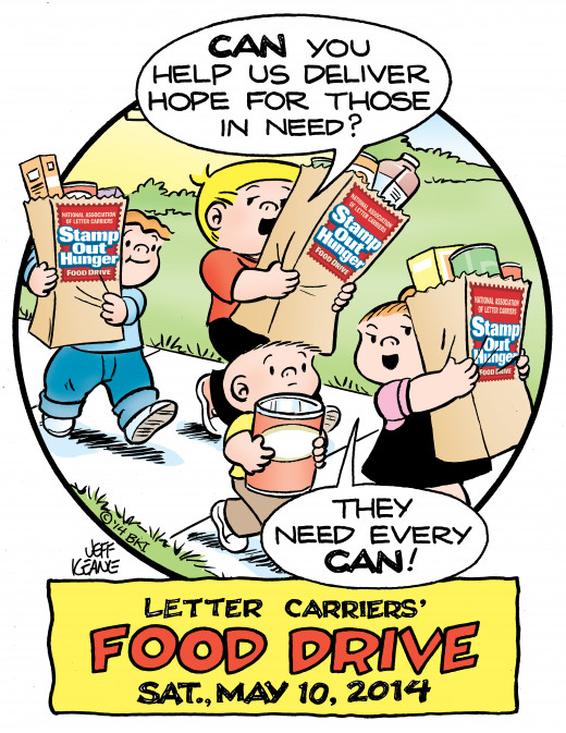 The Family Circus is lending a helping hand in spreading the word about Stamp Out Hunger.