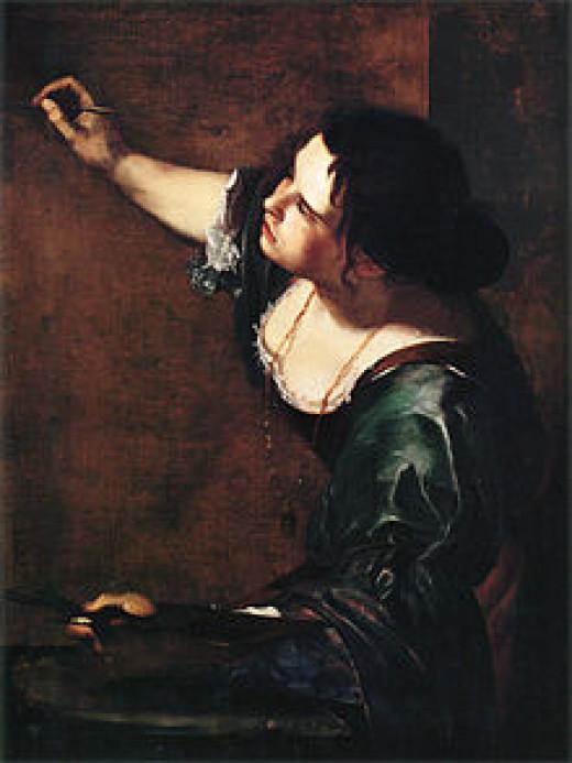 Artemisia Gentileschi self portrait