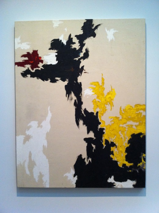 "Clyfford Still, ""PH-118,"" ca 1947. Oil on canvas, 69 x 53 in. Clyfford Still Museum Collection © Clyfford Still Estate."