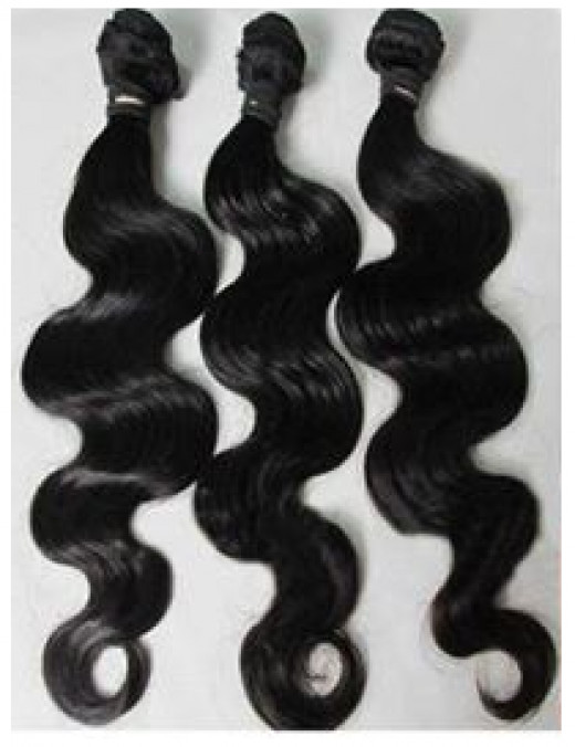 Virgin Weave hair is bundled after being cleaned and disinfected after being harvested from the donors.