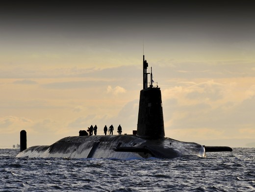 nuclear armed sub on River Clyde