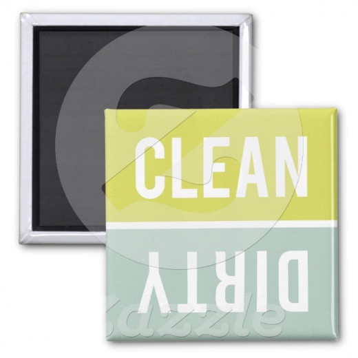 What a lovely reminder to serve each other by emptying the dishwasher!  This site has lots of cute dishwasher magnets.  This is our favorite!