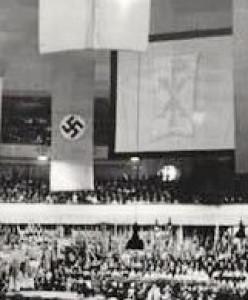 Chi-Rho along side the Nazi symbol.
