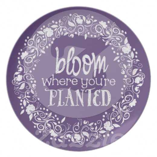 What a lovely idea to display this quote on a plate.