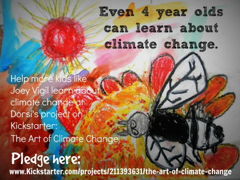 Dorsi Lynn Diaz's donation link for her project on Kickstarter The Art of Climate Change, a public education program