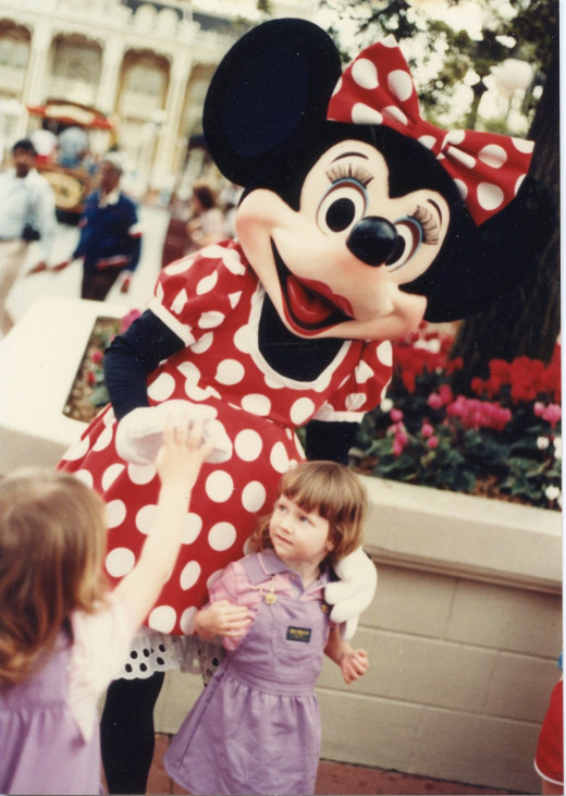 Me and Minnie Mouse when I was 3 years old.