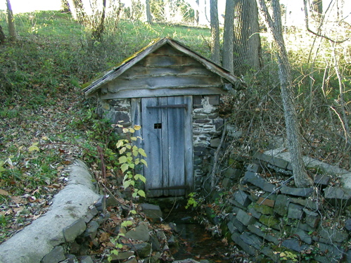 A springhouse like that found by the King family on the old Hamby property.