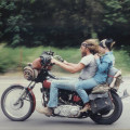 Traveling on a Vintage Motorcycle