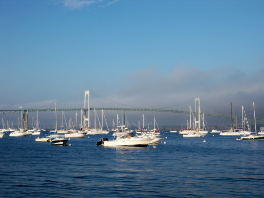 Newport Bridge connecting Mainland Rhode Island to the island of Newport, Rhode Island
