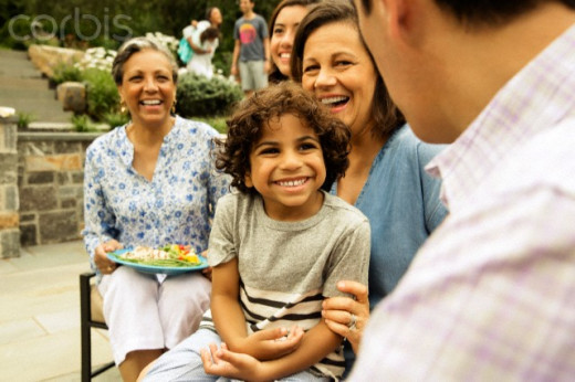 Getting to know your Hispanic  neighbors in the backyard. Good for you.