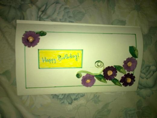 Quill  Flower Card