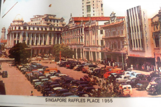 Raffles Place Commercial District Singapore 1955