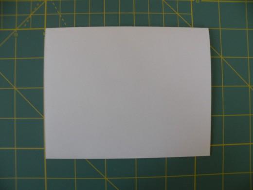 White base card