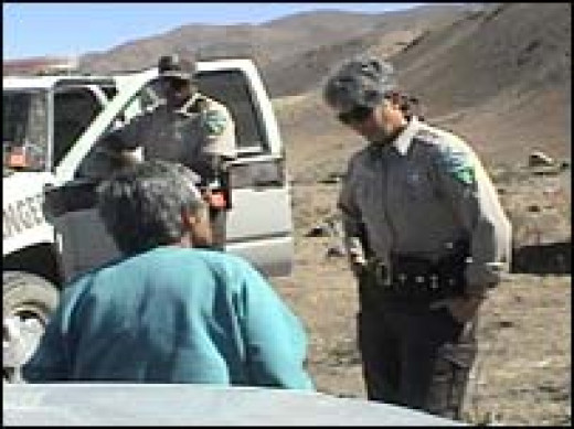 BLM officers at the Dann's Ranch.