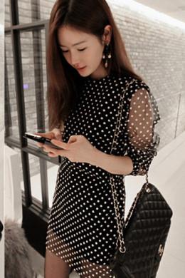 An Astor & Slade polka dot dress