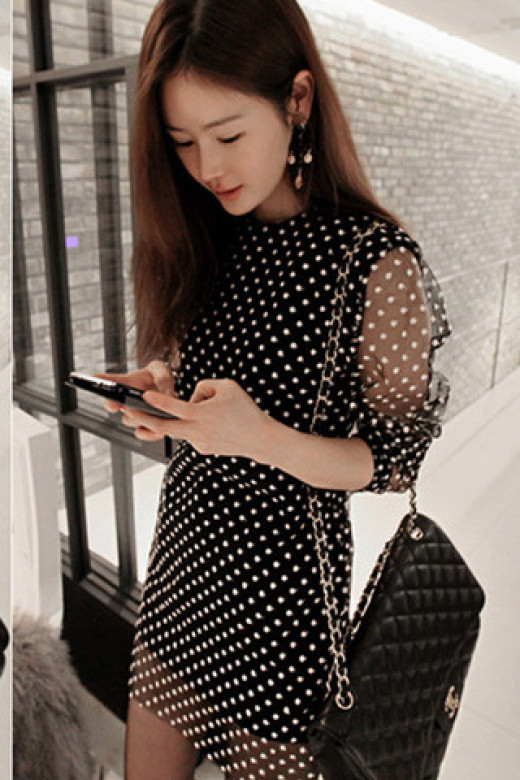 An Astor & Slade polka dot dress