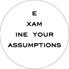 E     xam     ine your assumptions