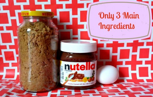 All you need are sugar, egg and Nutella to get you started.