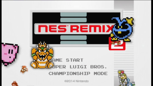 NES remixed title screen.