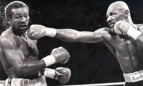 Marvelous Marvin Hagler (Right) is seen here beating John Mugabi in defense of his 160 pound crown.
