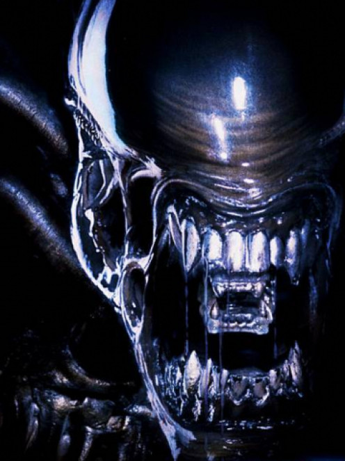 The deadly teeth of the Alien creature