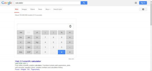 Google's calculator is very handy to have.