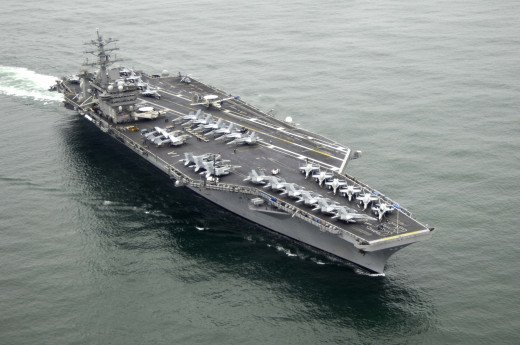 Among the largest ships in the world, aircraft carriers like this one, the U.S. Nimitz, will be safer for our military personnel, and more efficient, when they can make their own fuel on board, remain operational at all times, and no longer have to s
