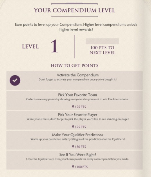 You can keep track of your points directly from inside the Compendium.