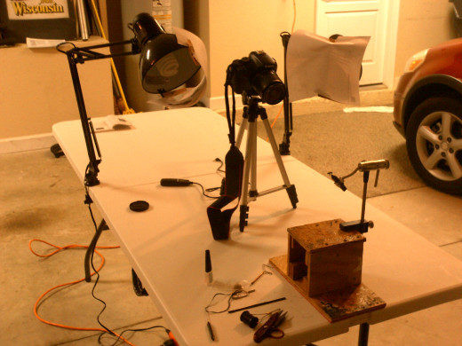 Typical camera set-up for shooting video