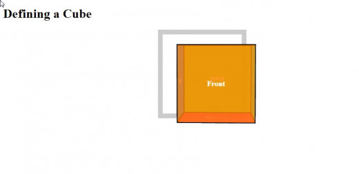 Note there is the slight illusion of a 3D cube caused by setting the level of opacity